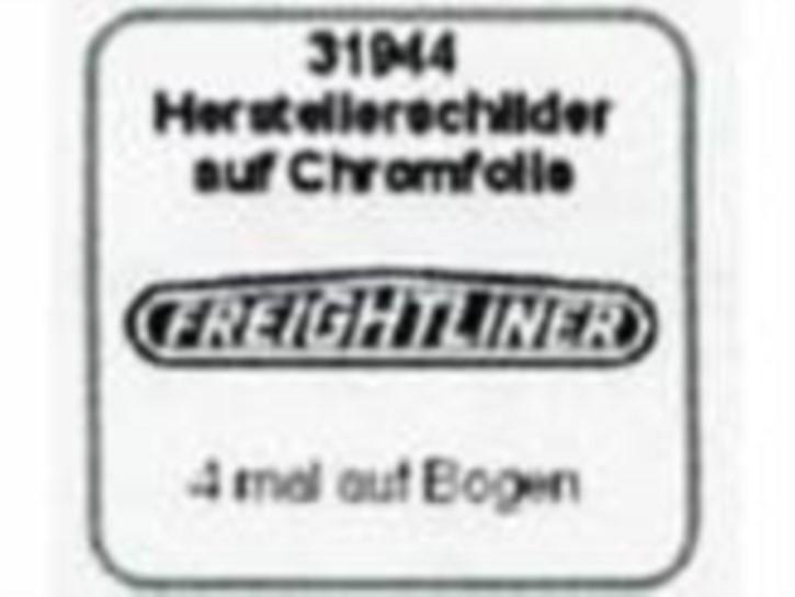 Herstellerschilder, Freightliner, 4 Stück Chrom