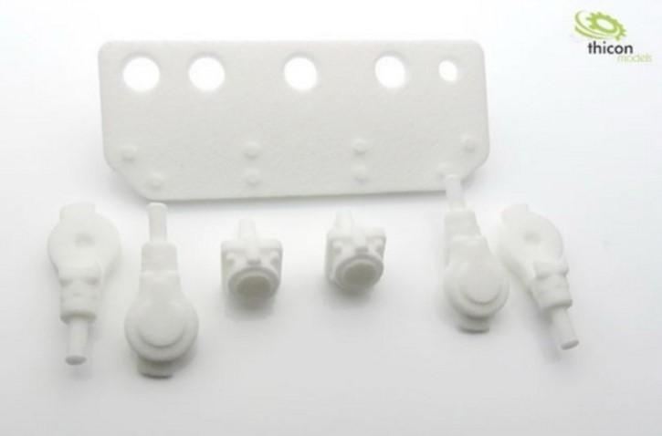 Druckluft-Kupplungs-Satz Kunststoff für LKW