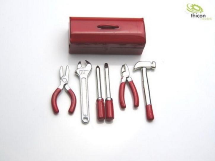 Werkzeugkasten Metall mit Werkzeug