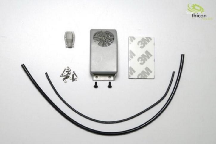 Klimaanlage für Rückwand aus Metall