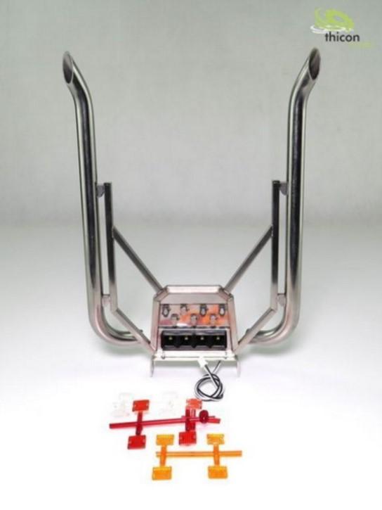 Auspuffanlage für VOLVO High-Pipe mit LED