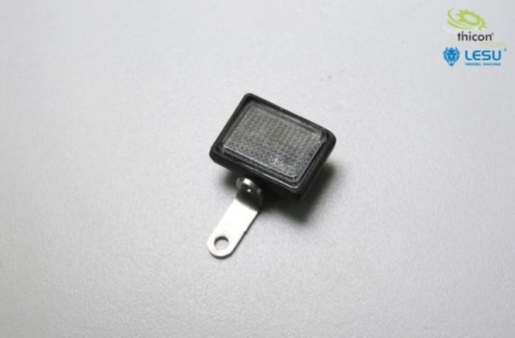 Scheinwerfer Rechteck Set mit LED weiß