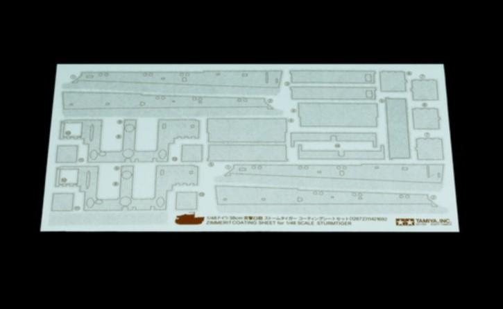 WWII Zimmerit Dekor-Satz Sturmtiger 38cm