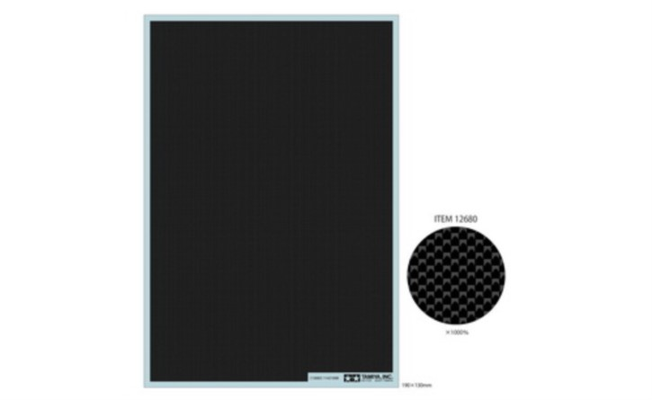Carbon Dekor glatt/extra fein  190x130mm