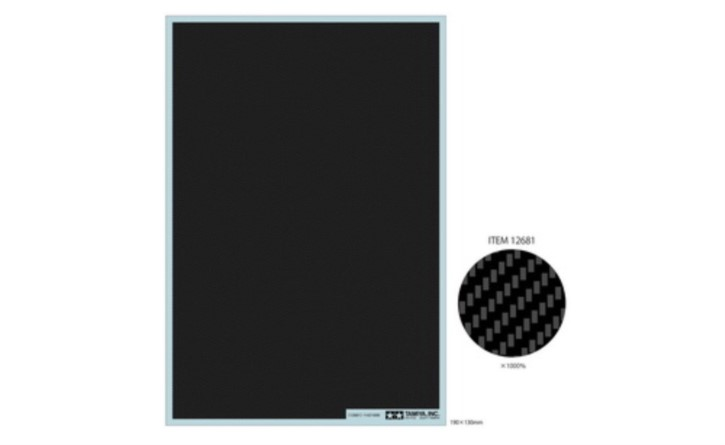 Carbon Dekor Köper/fein  190x130mm