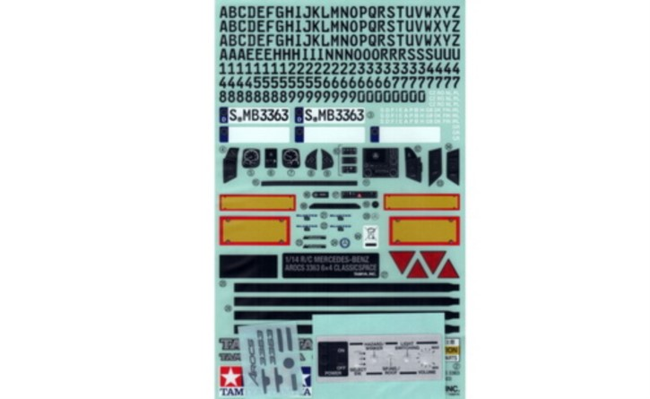 Aufkleber zu MB Arocs 3363