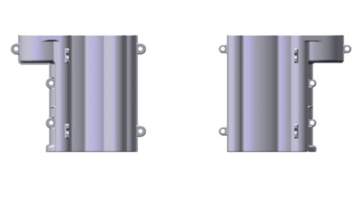 B-Teile 3-Gang-Getriebegehäuse, chrom matt