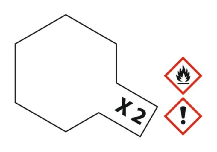 Acryl-Farbe X2 weiß, glänzend 23 ml