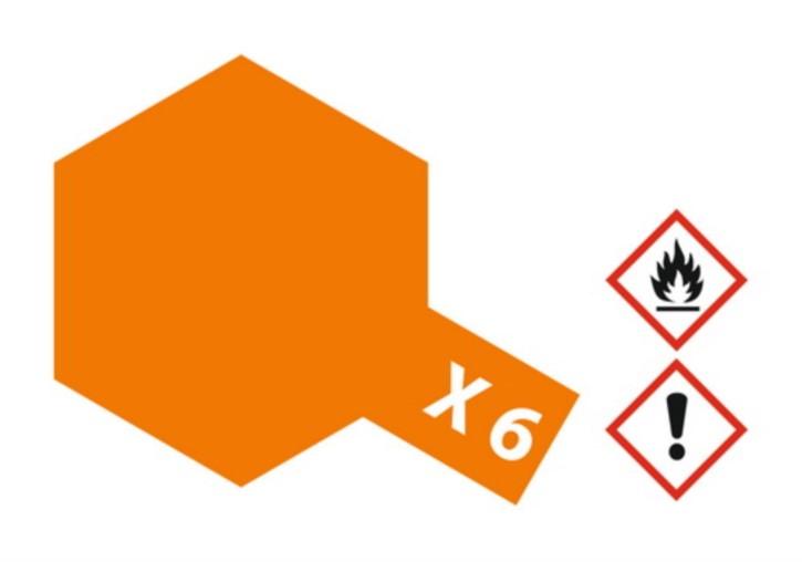 Acryl-Farbe X6 orange, glänzend 23 ml