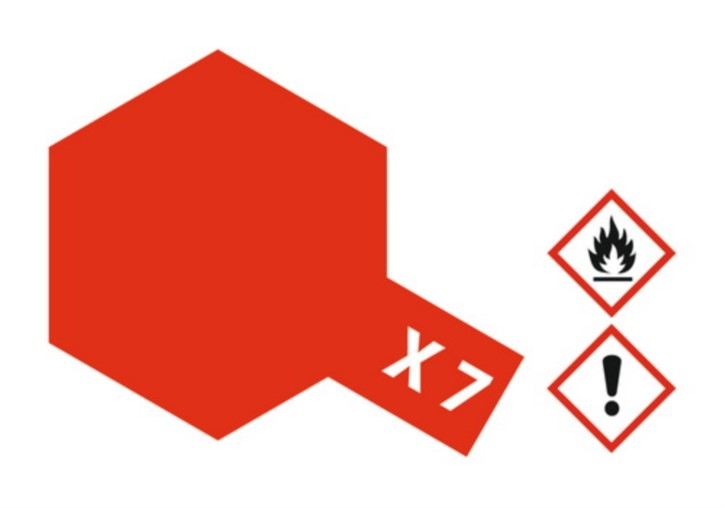 Acryl-Farbe X7 rot, glänzend 23 ml