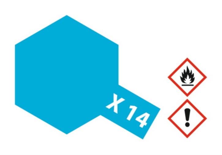 Acryl-Farbe X14 himmel-blau, glänzend 23 ml