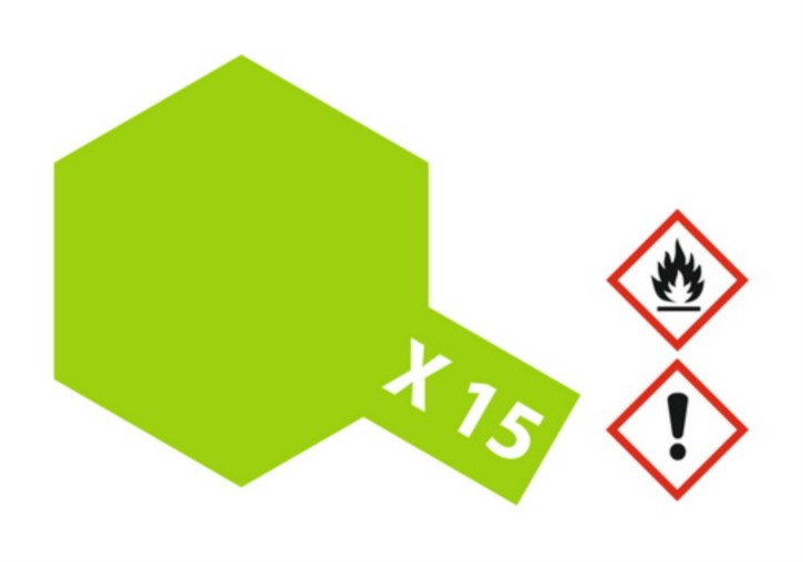 Acryl-Farbe X15 hell-grün, glänzend 23 ml