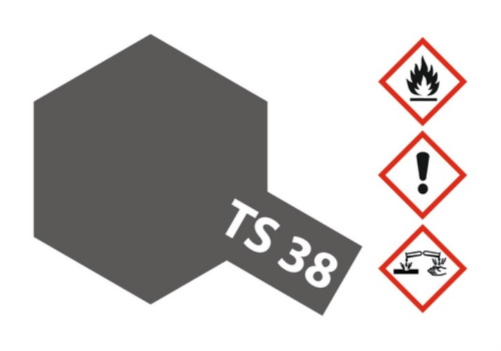 Acryl-Spray-Farbe TS 38 Gun Metal 100 ml
