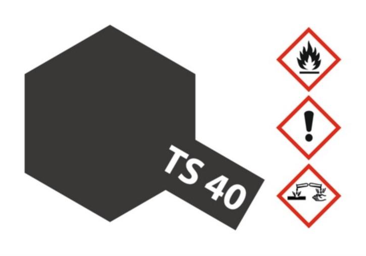 Acryl-Spray-Farbe TS 40 Metallic-schwarz 100 ml
