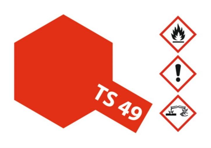 Acryl-Spray-Farbe TS 49 Ferrari-rot 100 ml