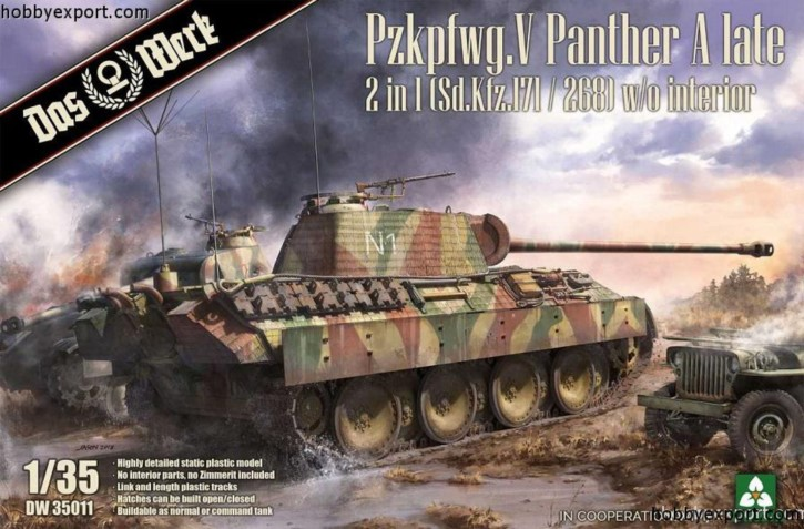 Panther A late 2 in1 (ohne Inneneinrichtung- Takom