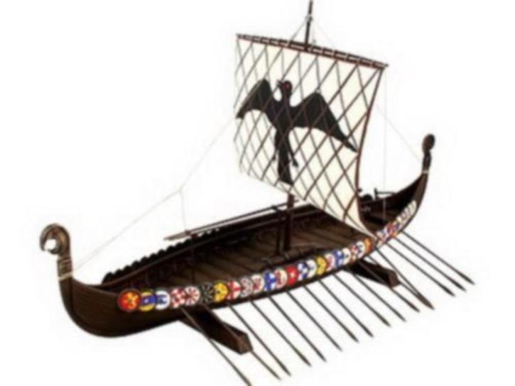 Wikingerschiff, 37 cm lang