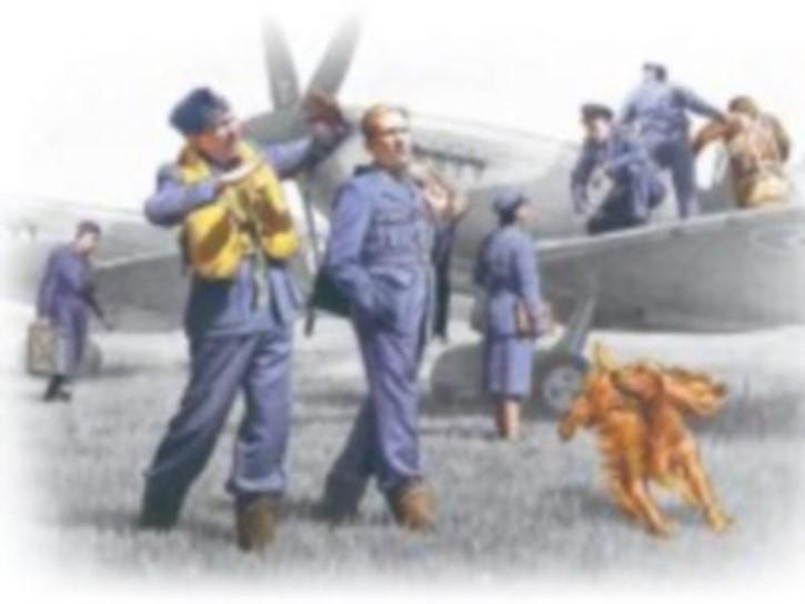 RAF Piloten und Bodenpersonal 1939/1945