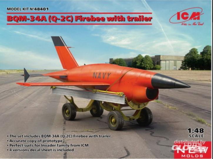 BQM-34A (Q-2C) Firebee with trailer (1 airplane an