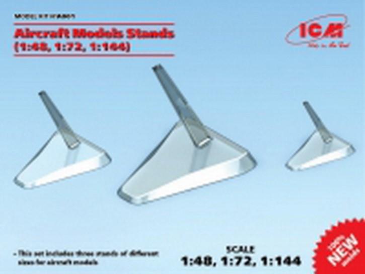 Flugzeugständer für 1/48, 1/72 und 1/144, 3 Stück