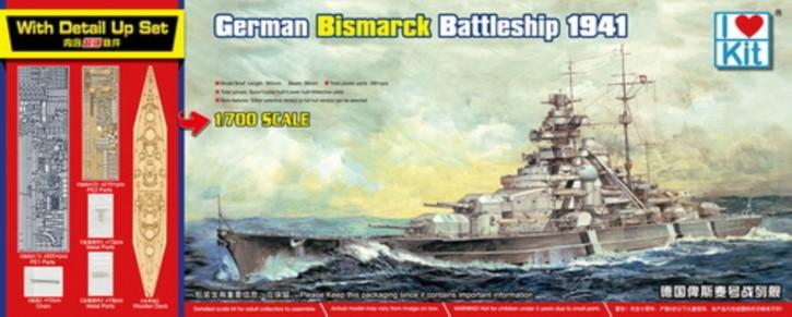 Bismarck, Top Grade Kit, mit Holzdeck und Fotoätzt