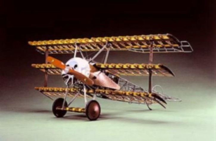 Fokker Dr.I, Museums-Modell in Holz, Metall...