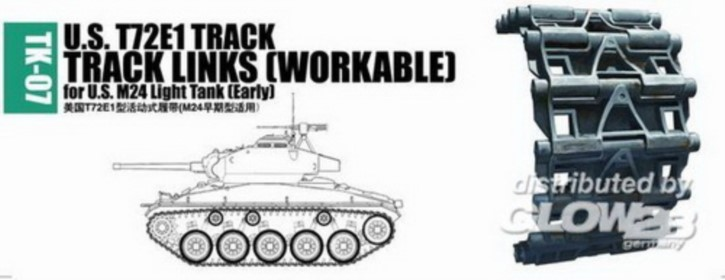 Panzerketten U.S. T72E1 für M24 light tank (early)