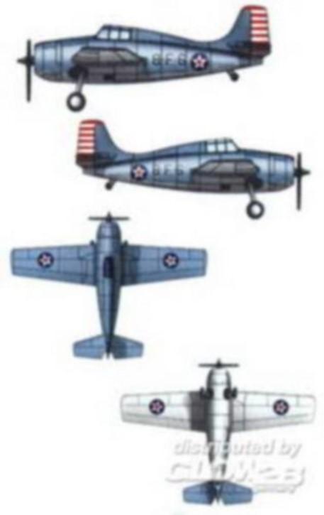 F4F4 Wildcat, 10 Stück, für Hornet CV-8
