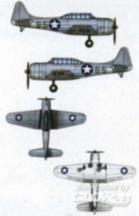 SBD3 Dauntless, 10 Stück, für Hornet CV-8