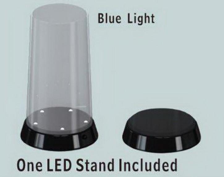 Display, gerader Deckel, 84x185, mit LED-Bel.