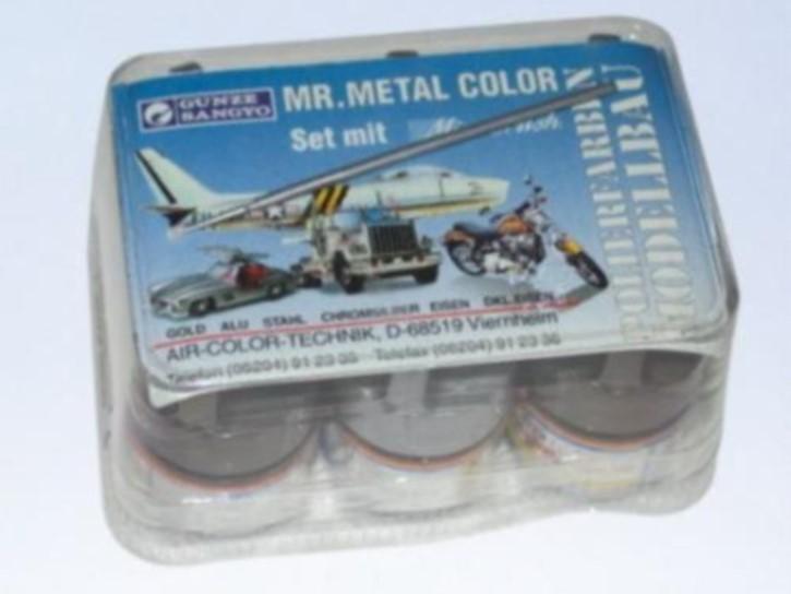 Mr. Metal Color, Metallic-Polierfarben, 6 Farben