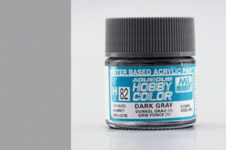 H82-dunkelgrau (1), seidenmatt, Acryl, 10 ml