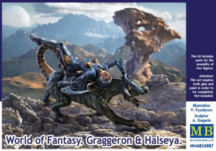 World of Fantasy Graggeron & Halseya, 2 Figuren