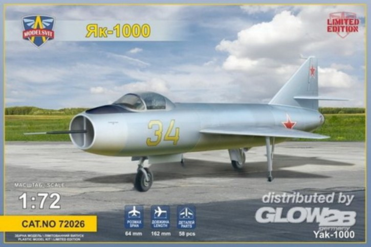 Yakovlev Yak-1000 sov. supersonic demo