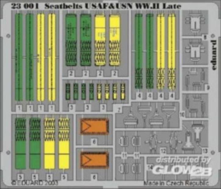 Sitzgurte USAF+USN WWII spät Color-Fotoätzteilset