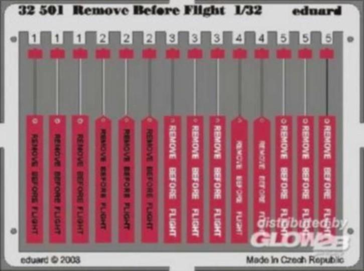 Remove before flight, Color-Fotoätzteile