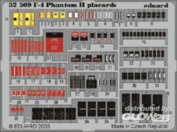 F-4 Phantom II Placards, Color-Fotoätzteile (TAM)