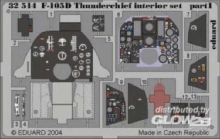 F-105D interior, Color-Fotoätzteile (TRU)