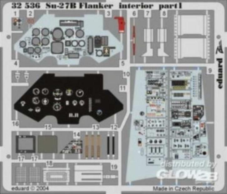 SU-27B Flanker Interior, Color-Fotoätzteile (TRU)