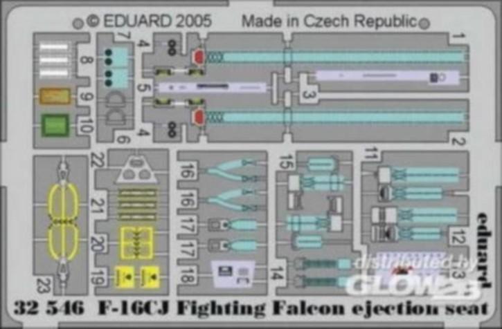 F-16CJ Fighting Falcon, Sitz, Colorätzteille(TAM)