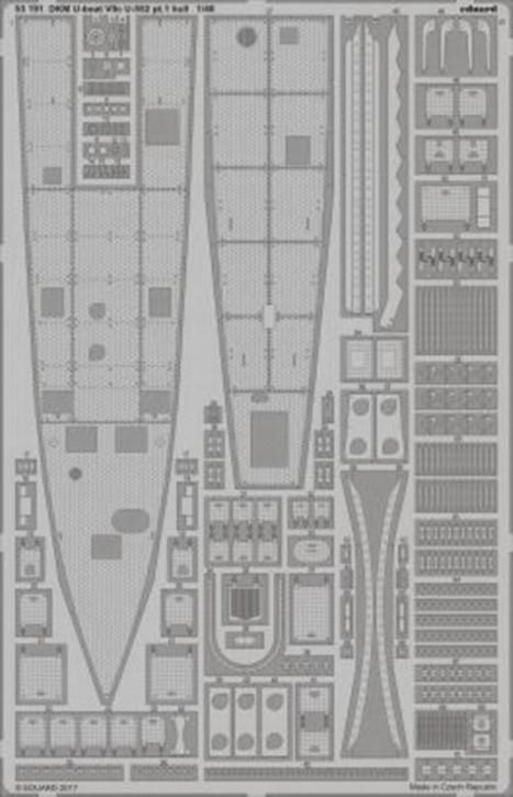 DKM U-Boat VIIc U-552 pt.1 Hull (TRU)