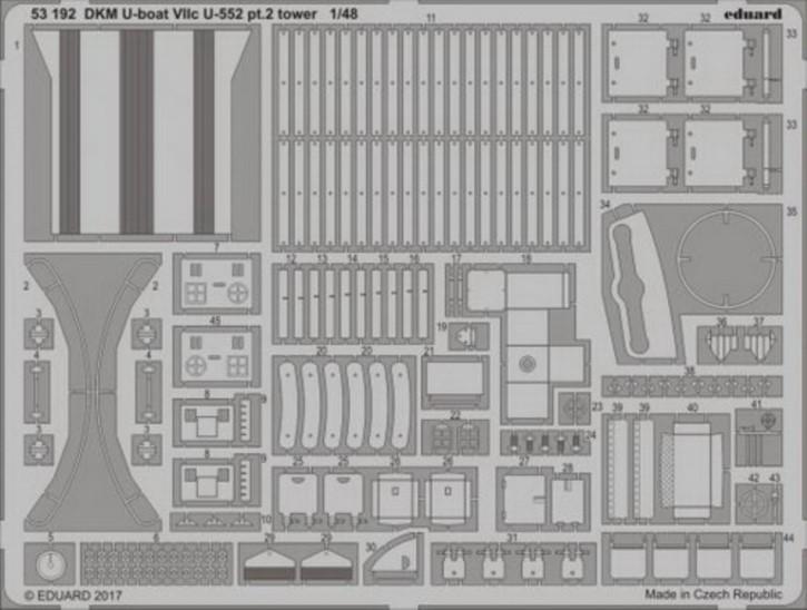 DKM U-Boat VIIc U-552 pt.1 Turm (TRU)