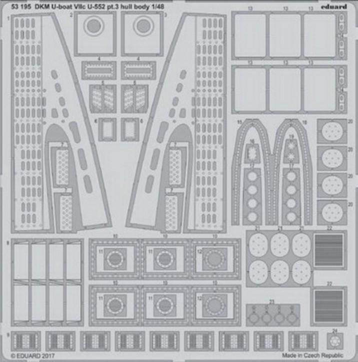 DKM U-Boat VIIc U-552 pt.3 Hull Body (TRU)