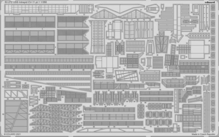 Fotoätzteile USS Intrepid CV-11 (TRU)