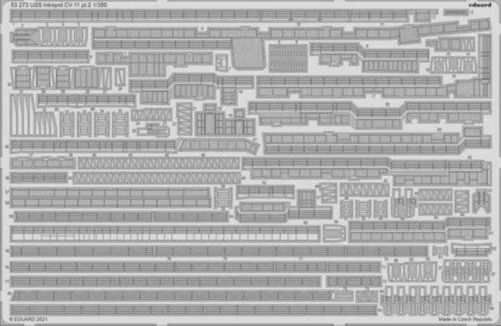 Fotoätzteile USS Intrepid CV-11 Part 2 (TRU)