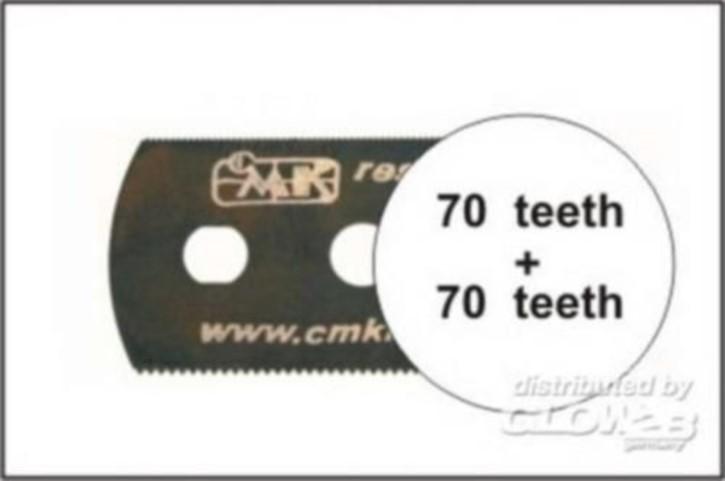 Sägeblatt, beidseitig feine Zähne auch für JLC