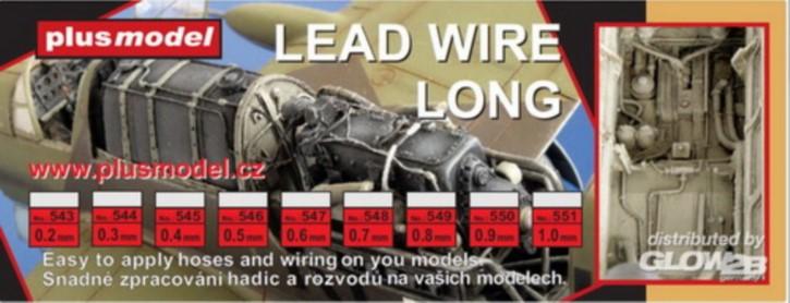 Kabel, lead Wire 0,6 mm dick,  Bleidraht, leicht b