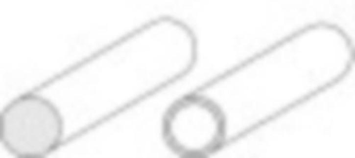 Rundrohre 600 x 7,10 mm, 5 Stück