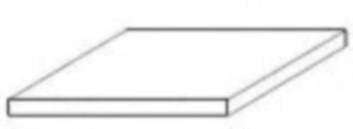 weiße Platte 300 x 600 x 1,50 mm, 4 Stück