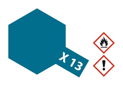 Acryl-Farbe X13 metallic-blau 23 ml